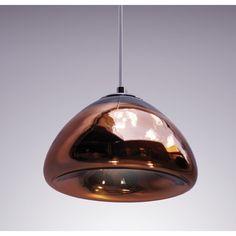 SPUTNIK copper glass pendant: a replica of Tom Dixon 'Void' (2010)