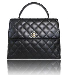 2ee97d3f4397 Chanel Black Caviar Skin Jumbo Kelly Pristine Gold Tote Bag $2,569 Chanel  Tote Bag, Chanel