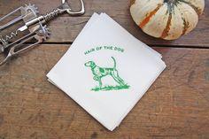 Hair of the Dog / cocktail napkins by Tenn Hens Design on Etsy / Nashville