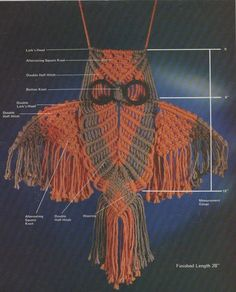 Vintage1977 Macrame Owl Patterns by SparrowFinds on Etsy