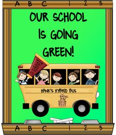 Take a ride on Hank's Hybrid bus! Free mini poster to celebrate Earth Day!