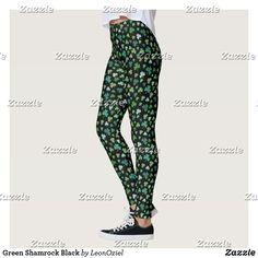 Shop Bright Green Shamrock Black Leggings created by LeonOziel. Gym Leggings, Leggings Fashion, Black Leggings, Fitness Inspiration, Workout Inspiration, Beautiful Yoga, Gym Fashion, Fashion Outfits, Gym Style