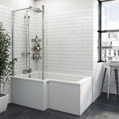 Orchard L shaped left handed shower bath 1500 x 850 – Laundry Room İdeas 2020 Bathroom Layout, Modern Bathroom Design, Bathroom Interior Design, Bathroom Ideas, Bathroom Showers, Garage Bathroom, Bathroom Bath, Boho Bathroom, Bathroom Renos