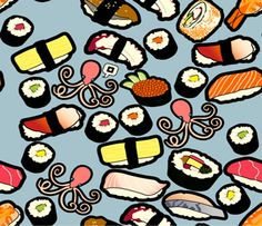 SUSHI WRAPPING PAPER STATIONERY - Google Search