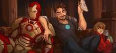 Because a tuna sandwich is an essential snack for Tony Stark before he saves the world yet again.  Iron Man III © Marvel