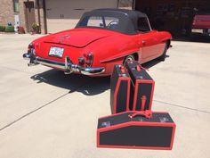 "Beautiful ""Feuerwehr Rot"" Mercedes Benz #190SL with custom made luggage (#TheClassicVoyager) / #BruceAdams190SL #190SLRestorations"