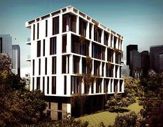 Apartment Building Facade facade design for an existing apartment building in etiler. in