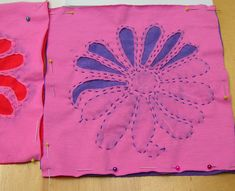 How to Applique by Hand | using applique as opposed to reverse applique in the yellow
