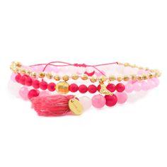 Chan Luu - Neon Pink Mix Stretch Bracelet Set, $95.00 (http://www.chanluu.com/bracelets/neon-pink-mix-stretch-bracelet-set/)