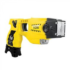 With over 2,700 police departments already using the TASER® X26™ model for personal protection while on duty, it is the ultimate self defense in your home or while in public.  Two electric probes are deployed using compressed air cartridges. The probes stay connected to the ADVANCED TASER® X26™ device by a thin electrical wire and will reach a maximum distance of about 15 feet.