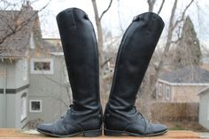 vtg leather tall riding equesterian boots womens size 8 by Taite, $45.00