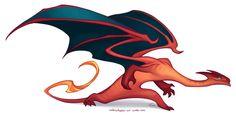 With a mega-evo bonus. Magical Creatures, Fantasy Creatures, Creature Drawings, Dragon Design, Monster Design, Creature Concept, Cool Pokemon, Dragon Art, Creature Design