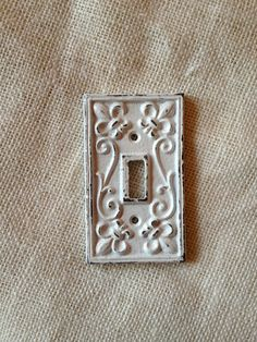 single light switch cover plate fleur de lis by kitnkaboodlehome, $9.00