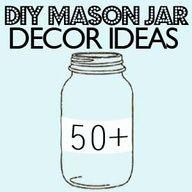 tons of mason jar ideas via Saved by Love Creations #DIY