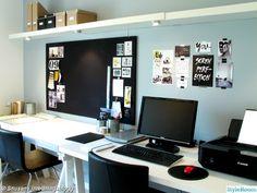 ikea,skrivbord,arbetsrum,anslagstavla,gul