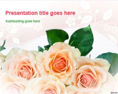 Free funeral flower ppt template ideas for the house pinterest bunch of roses powerpoint template toneelgroepblik Image collections