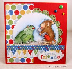 House-Mouse & Friends Monday Challenge. I like the design of this card.