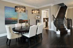 Staging a dining room.  home decor and interior decorating ideas.  lake home.