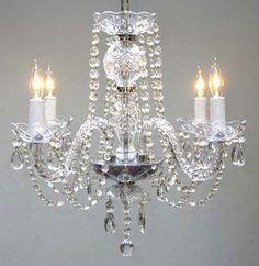A46-275/4  Murano Venetian Style CHANDELIER Chandeliers, Crystal Chandelier, Crystal Chandeliers, Lighting