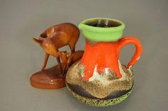 Vintage Vase/Krug / Ü-Keramik (Uebelacker) / Modell 1808 14 | West Germany | WGP | 60er von ShabbRockRepublic auf Etsy