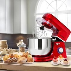 This is stylish food stand mixer which is great for your kitchen. It comes with dough hook, beater, whisk and Qt stainless steel bowl. Powerful 660 watt motor and variable speeds guarantee freshness and smoothness of food, an Kitchen Aid Mixer, Kitchen Appliances, Electric Foods, Stainless Steel Bowl, Stand Mixer, Tilt, Diy Kitchen Appliances, Home Appliances, Kitchen Gadgets