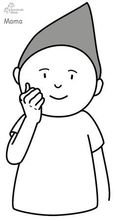 Mama Kindergebärden Babyzeichen Babygebärden Babyzeichensprache