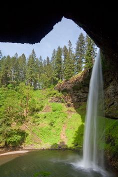 'South Falls on a Sunny Day' - photo by Don Paulson;  Silverfalls State Park in Oregon