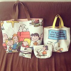 Peanuts ヴィンテージシーツハンドメイドバッグ