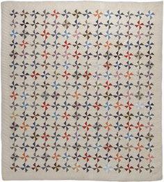 Pinwheel quilt, 1912, made by Florence Ballentine, Claredon, MI. Michigan State University Museum