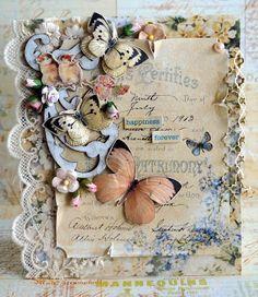 Shabby Chic handmade card. ✯Inkido✯