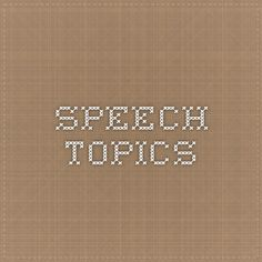 demonstration speech topics bull my speech class oral speech topics