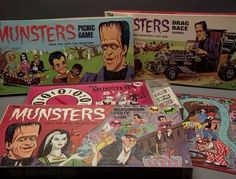 Munsters Collectible Board Games