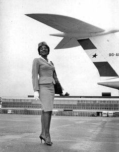 First Air Hostess in Ghana ~ 1960