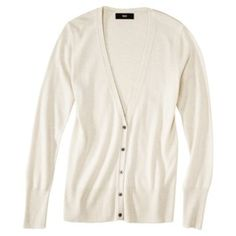 Mossimo® Women's Ultrasoft V-Neck Cardigan - Assorted Colors in White and Small $20
