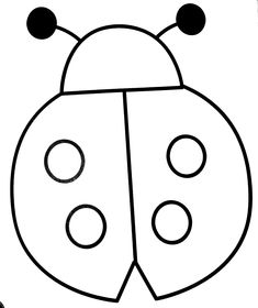 Ladybug Coloring Page, Preschool Coloring Pages, Easy Coloring Pages, Animal Coloring Pages, Free Printable Coloring Pages, Coloring Books, Cute Easy Drawings, Art Drawings For Kids, Drawing For Kids