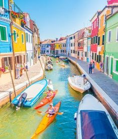 In colorful Burano, Italy.