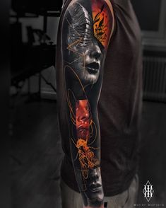 Walter Montero's tattoo surrealism Walter Montero's tattoo surrealism Irezumi Tattoos, Leg Tattoos, Body Art Tattoos, Sleeve Tattoos, Tattoos For Guys, Geisha Tattoos, Dragon Tattoos, Spine Tattoos, Dragon Tattoo Full Back