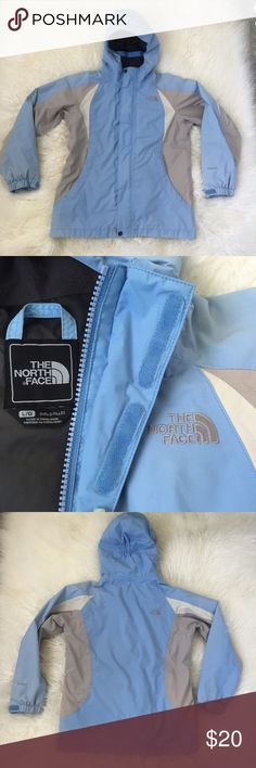 """The North Face Lightweight Hyvent Jacket/Coat 18"""" pit to pit / 22.5"""" length - Lightweight coat worn but in great condition! No stains - clean coat! There is a light pen mark on back of sleeve and one even lighter mark on back bottom of coat - neither is noticeable and may come out with extra laundry care. Very tiny .25"""" rip by pocket also not noticeable and barely shows in photos. Smoke free pet friendly The North Face Jackets & Coats"""