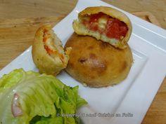 Cuisine en folie: Pizza balls mortadelle et poivrons rouges grillés