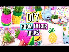 DIY ROOM DECOR IDEAS! Easy & Fun 5 Minute DIY's For Your Room! Summer Room Decor! - YouTube