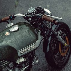Speak softly and ride a cafe racer... #ducati #caferacer