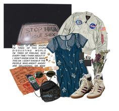 """""""stop thinking about"""" by silkwitch on Polyvore featuring GET LOST, Hollister Co., adidas, Zippo, Ray-Ban and Guide London"""