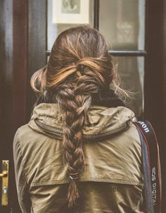 * Hair * Plait * French Plait * Braid * Brunette * Highlights * Thick * Love It *