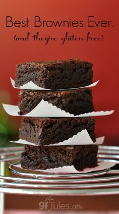 Best Brownies Ever (and they're gluten free!) | gfJules.com
