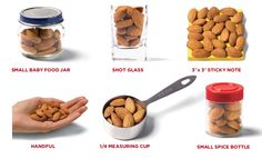 What does a serving of almonds look like? Plus almond recipes.