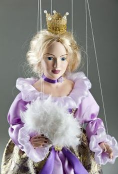 Prague Gaudeo Czech Handcrafted Puppet Puppen & Zubehör Marionette King & Queen Marionette Puppets
