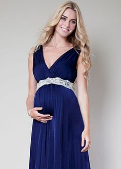 Anastasia Maternity Gown (Eclipse Blue) - Maternity Wedding Dresses, Evening Wear and Party Clothes by Tiffany Rose