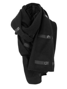 Gorgeous Leotie Black Knitted Scarf #goth #black #winter #style