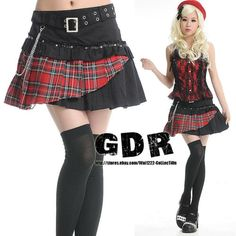FreeShip-X-PUNK-gothic-KERA-Lolita-NANA-LAYER-71198-BR-SKIRT-M
