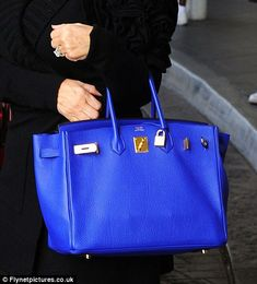Hermes Birkin In Cobalt Blue....I want this bag in black or white. A girl can dream, can't she?